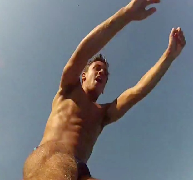 Tom Daley on holiday.