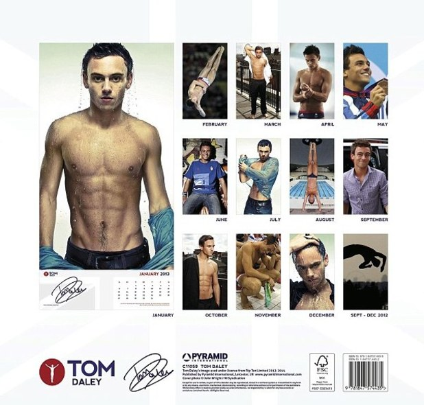 Tom Daley, calendar 2013