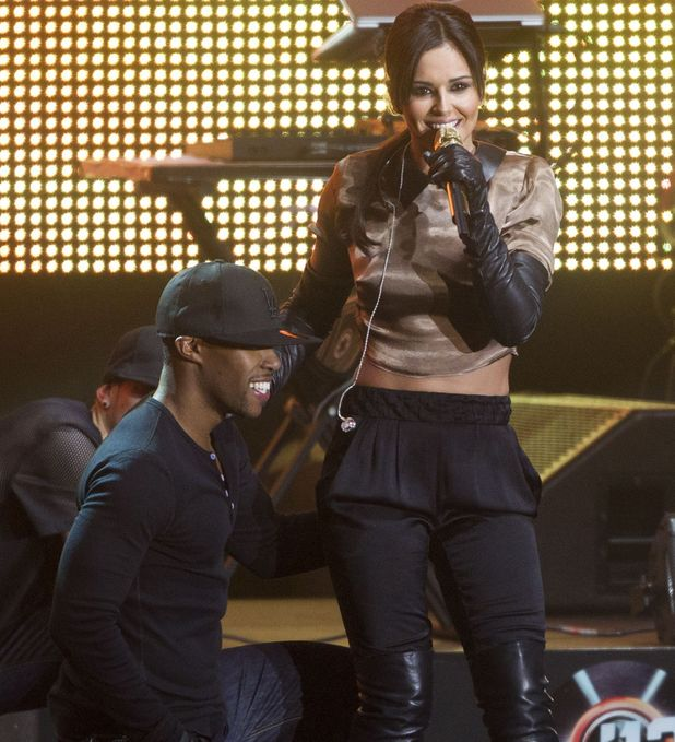 Headline: The Voice '12 concert, Tivoli, Copenhagen, Denmark - 24 Sep 2012 Subhead: Cheryl Cole and dancer boyfriend Tre Holloway