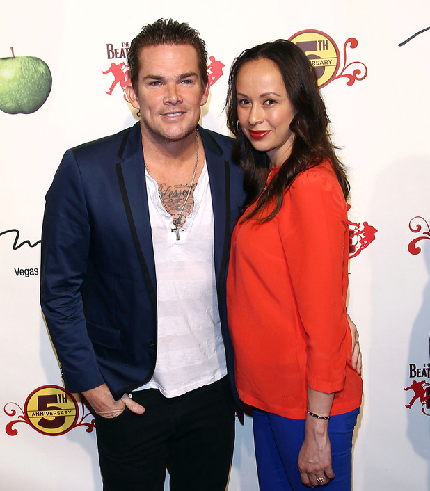 Mark McGrath and Carin Kingsland at The Beatles LOVE by Cirque du Soleil Fifth Anniversary Celebration at The Mirage Las Vegas, Nevada - 08.06.11