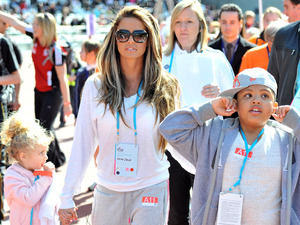 Princess Tiaamii, Katie Price and Harvey Price Gold Challenge Olympic Stadium Event held at the Olympic Park in Stratford. London, England - 01.04.12 Mandatory Credit: Daniel Deme/WENN.com
