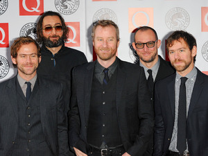 Matt Berninger, Aaron Dessner, Bryce Dessner, Bryan Devendorf and Scott Devendorf of The National, The Q Awards 2010 held at the Grosvenor House -Arrivals.