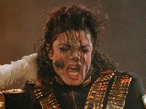 Michael Jackson performing.