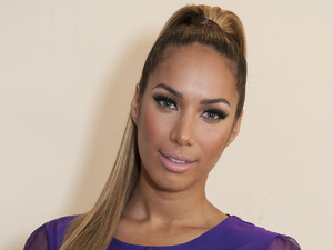Leona Lewis about to perform on The X Factor.
