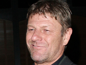 Sean Bean looking worse for wear outside the Groucho club London, England
