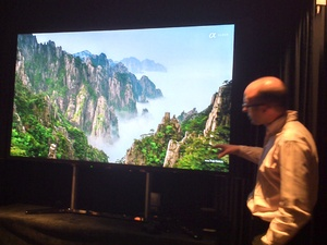 Demonstration of Sony&#39;s new 84-inch 4K TV (Bravia KD-84X9005)