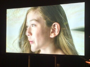 Demonstration of Sony's new 84-inch 4K TV (Bravia KD-84X9005)