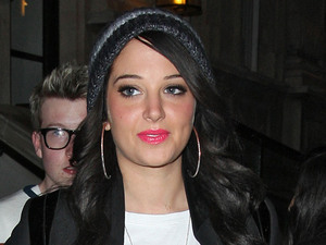 Tulisa Contostavlos outside the Corinthia Hotel London, England