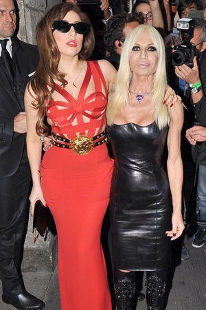 Lady GaGa, Donatella Versace, Milan