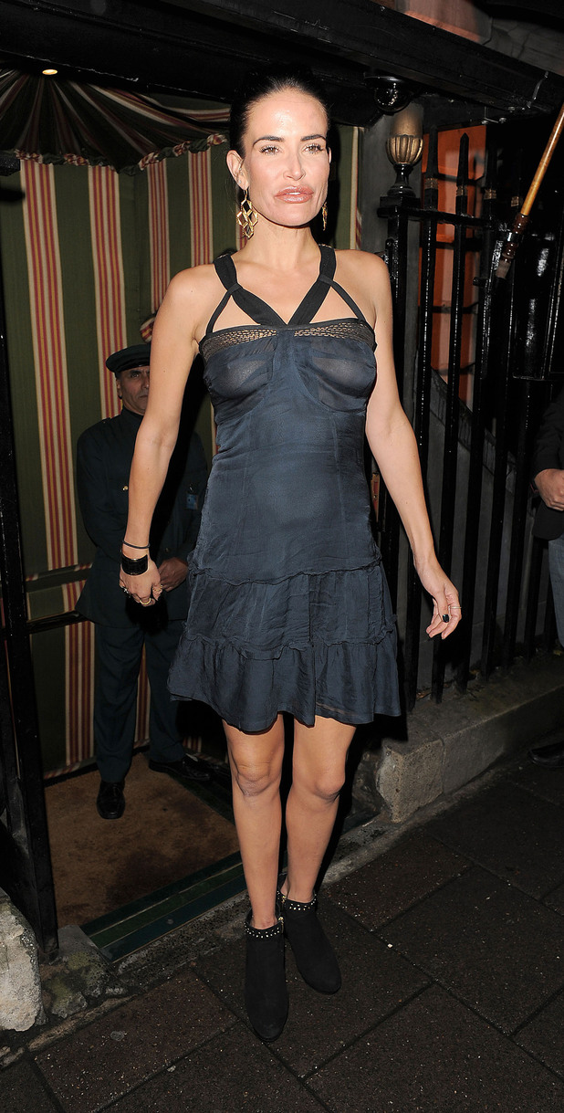Sophie Anderton arriving at Annabel's private members club in Mayfair.