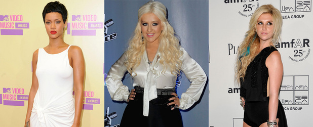 Rihanna, Christina Aguilera, Kesha