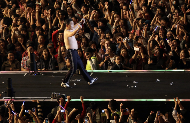 performs in front of 80,000 fans at Seoul in South Korea.