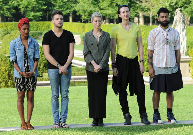 Project Runway - Season 10 (04/10/2012): Sonji Williams, Christopher Palu, Melissa Fleis, Dmitry Sholokhov and Fabio Costa