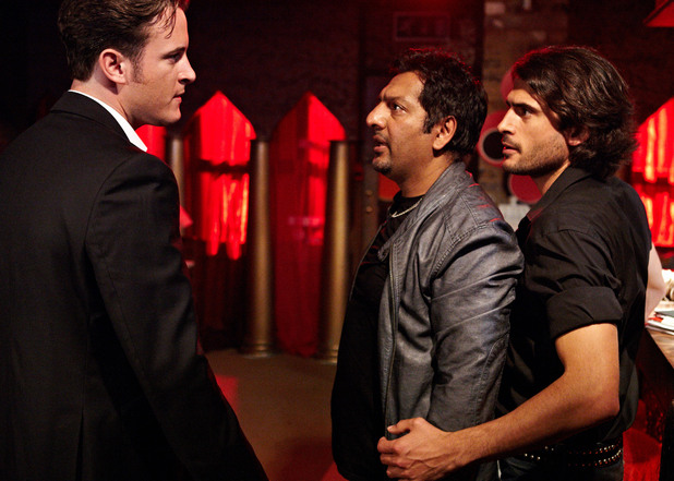Masood stands up for Syed when Danny turns up.