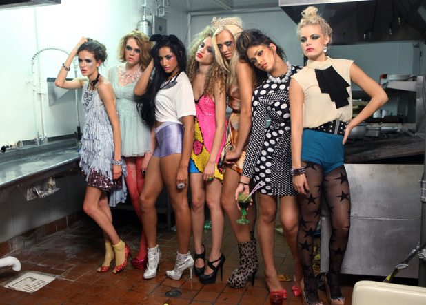 "America's Next Top Model -- ""The Girl Who Licks the Floor"": Victoria, Brittany, Kiara, Nastasia, Laura, Allyssa and Kristin"