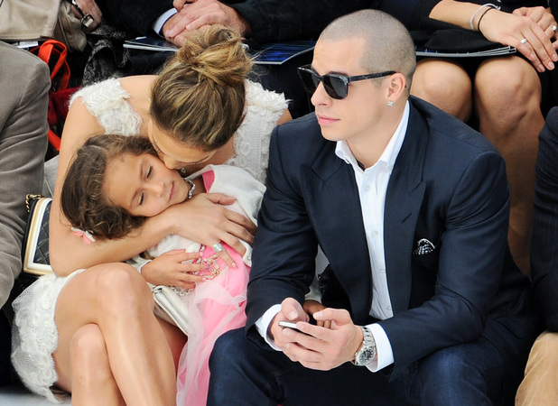 Jennifer Lopez at Chanel with Casper Smart and daughter Emme, Paris Fashion Week, 02.10.2012