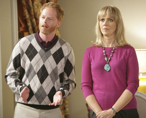 Jesse Tyler Ferguson as Mitchell and Shelly Long as Dede in &#39;Modern Family&#39;