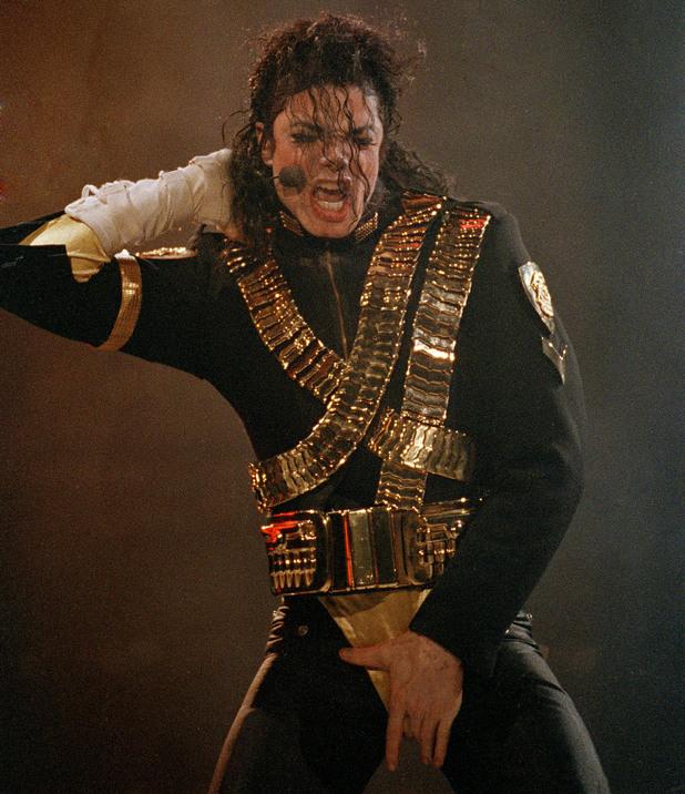 Michael Jackson performing.