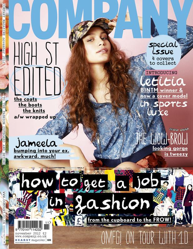 Winner of Britain and Ireland's Next Top Model Letitia Herod in Company magazine