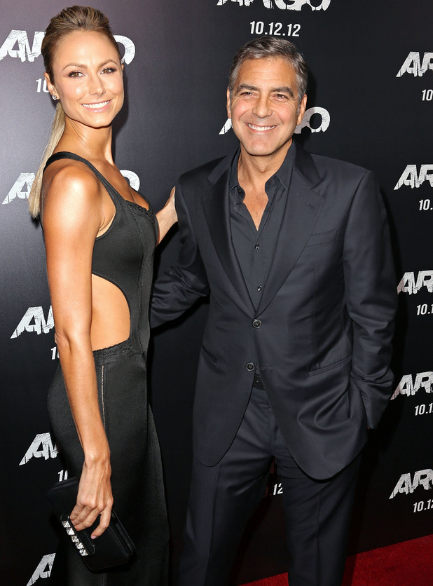 Stacy Keibler and George Clooney 'Argo' - Los Angeles Premiere at AMPAS Samuel Goldwyn Theater Beverly Hills, California