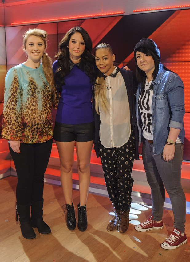 X Factor 2012 girls with Tulisa