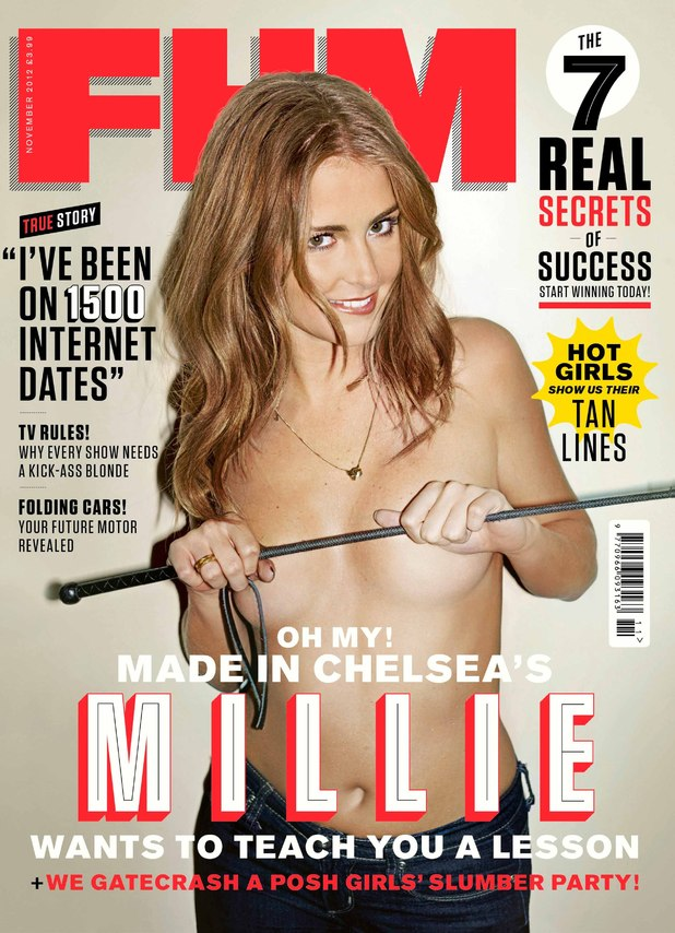 Millie Mackintosh reveals her latest photo shoot for this month's FHM Magazine