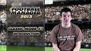 Video footage previewing Football Manager 2013's back to basics mode