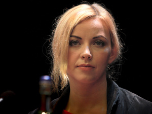 Charlotte Church takes part in a discussion on phone hacking before today's session of the Conservative Party conference at International Convention Centre in Birmingham.