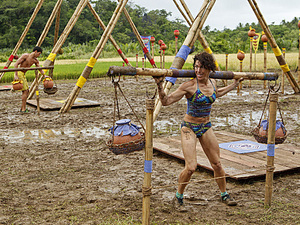 """Create a Little Chaos"" - Denise Stapley of the Matsing tribe during the Immunity Challenge on the fourth episode of Survivor: Philippines, Wednesday, October 10"