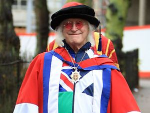 Jimmy Savile receiving an honorary Doctor of Arts degree, Bedfordshire University in 2009