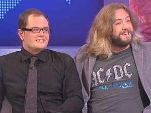 Justin Lee Collins hosts Channel 4's 'Friday Night Project' alongside co-host Alan Carr in 2006