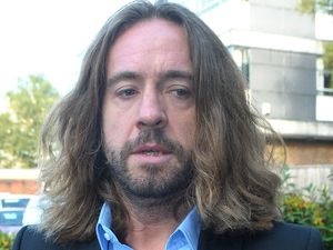 Justin Lee Collins outside St Albans Crown Court on the 9th October 2012, the day he was found guilty of harassment of his ex-girlfriend Anna Larke