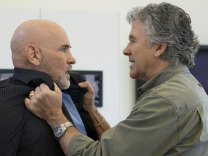 Dallas S01E06 - 'The Enemy of My Enemy': Mitch Pileggi as Harris Ryland and Patrick Duffy as Bobby Ewing