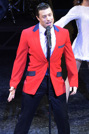 Duncan James of Blue performs Jersey Boys for Comic Relief.