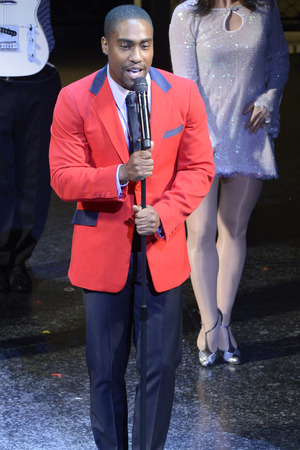Simon Webbe of Blue performs Jersey Boys for Comic Relief.