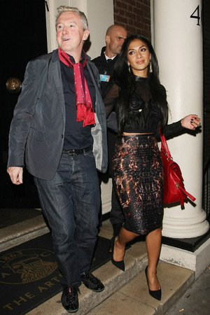 Louis Walsh and Nicole Scherzinger leaving the Arts Club in Mayfair London