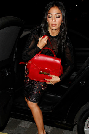 Tulisa Contostavlos leaving the Arts Club in Mayfair London, England