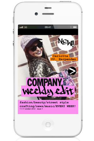 'Company Magazine' weekly mobile app screnshot