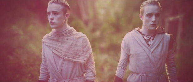 Jedward in 'Luminous' music video