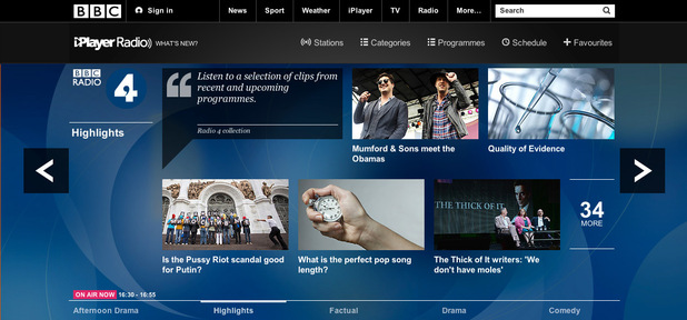BBC iPlayer radio desktop screenshot