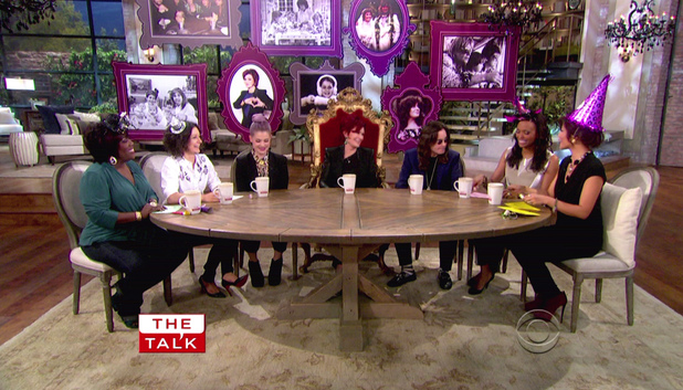 CBS show &#39;The Talk&#39; celebrates Sharon Osbourne&#39;s 60th birthday (October 9, 2012)