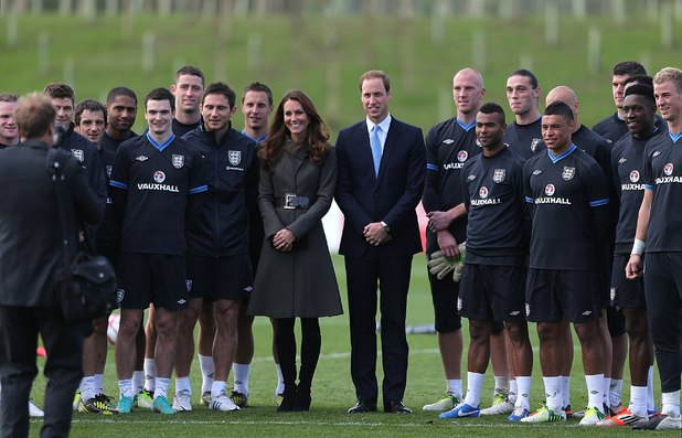 Duchess of Cambridge, England players, Prince William