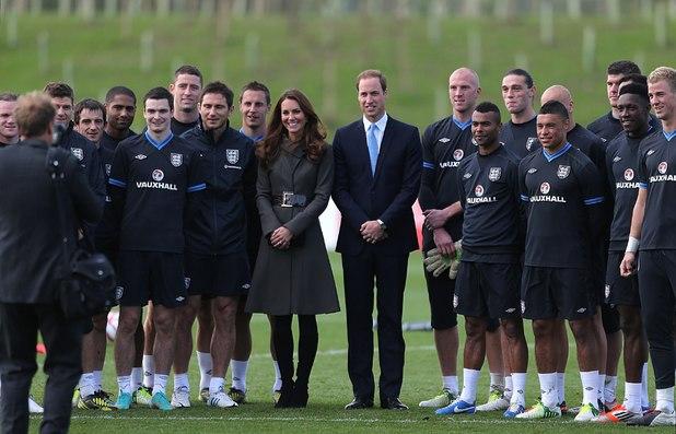 Duchess of Cambridge, England players, Prince William