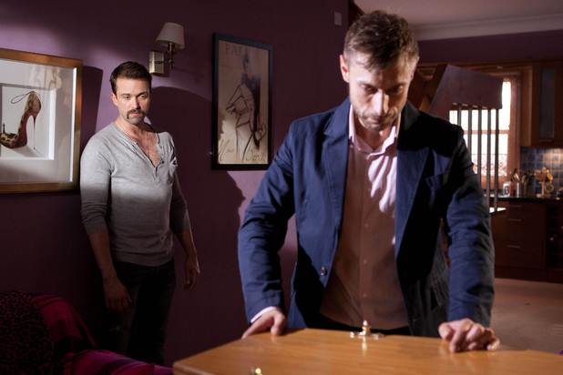 Eoghan Nolan and Brendan Brady in Hollyoaks