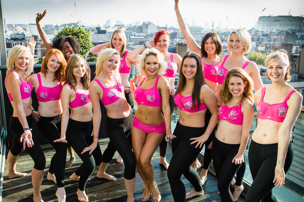 Strictly Come Dancing star Kristina Rihanoff & CoppaFeel! Boobettes pose in new pink Panache Sports Bra