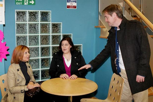 Wayne confronts Emily over sexually abusing Lucy and vows to report her.