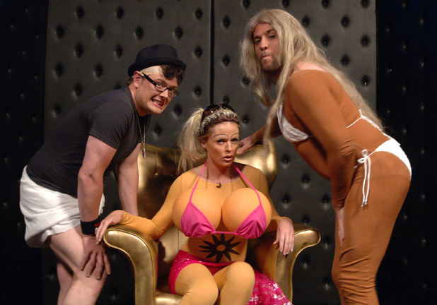 Justin Lee Collins, Patsy Kensit and Alan Carr