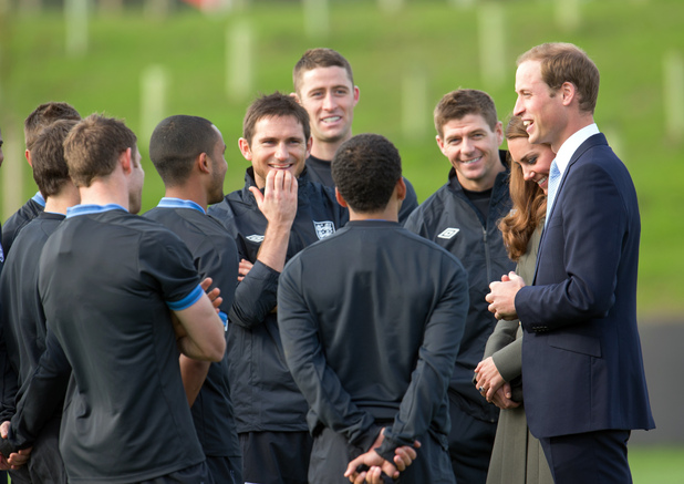 Prince William, Duchess of Cambridge, England squad