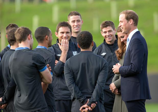 Prince William, Duchess of Cambridge, England squad