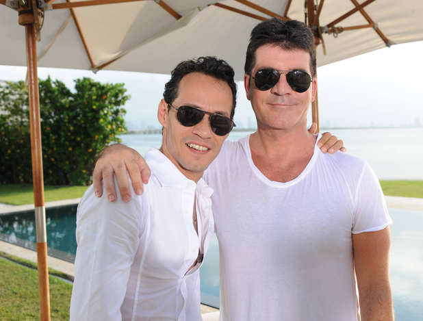 Simon Cowell with Marc Anthony